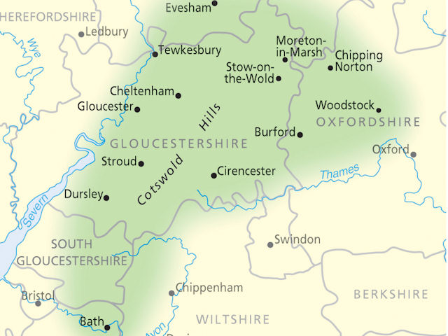 The cotswolds maps google